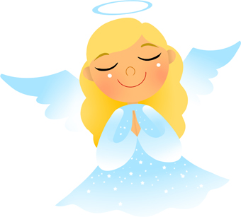 angel clip praying clipart prayer hands clasped haired light