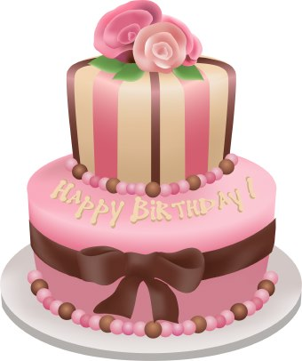 Birthday Cake Illustrator Vector