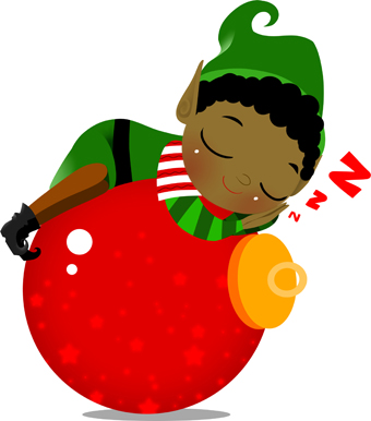 elf with ornament clip art