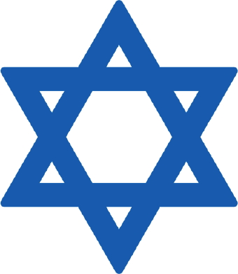Clip art of a blue Star of David.