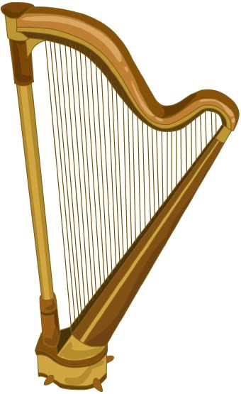 Clip art of an orchestral harp