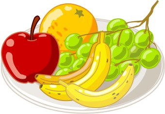 healthy food and fruits fruit art