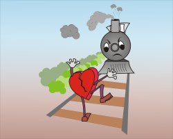 Red Heart cartoon character clip art