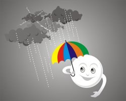 Sun and Rain clip art
