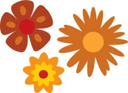 Three Flowers clip art