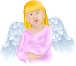 Angel with Crossed Arms clip art
