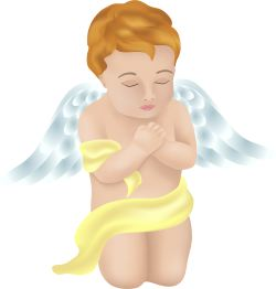 Kneeling Angel clip art