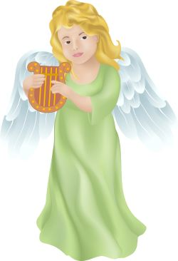 Angel with Harp clip art