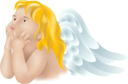 Thoughtful Angel clip art