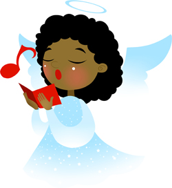 Angel Singing clip art