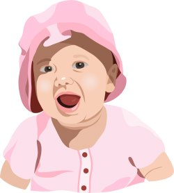 Surprised Baby clip art
