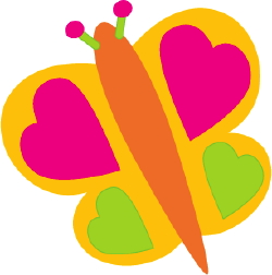 Butterfly With Hearts clip art