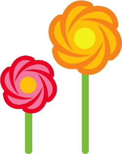 Candy Flowers clip art