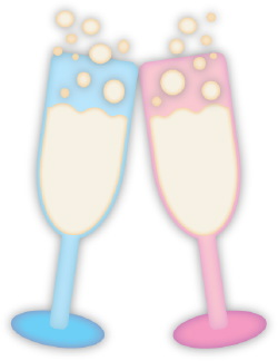 Champagne Glasses clip art