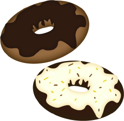 Chocolate Doughnuts clip art