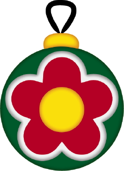 Christmas Ornament Flower clip art
