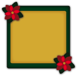 Christmas Photo Frame Poinsettias clip art