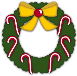 Christmas Wreath Candy Canes clip art