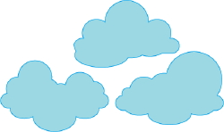 Blue Clouds clip art