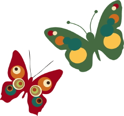 Colorful Butterflies clip art