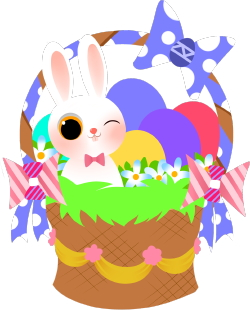 Colorful Easter Basket clip art