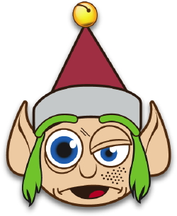 Crazy Elf With Green Hair clip art