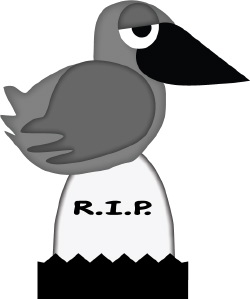Crow In Graveyard clip art
