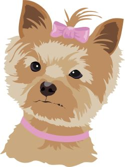 Brown and Tan Dog clip art