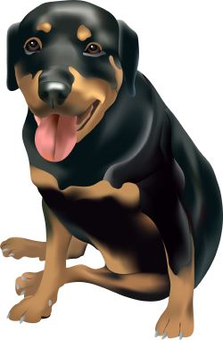 Brown and Black Dog clip art