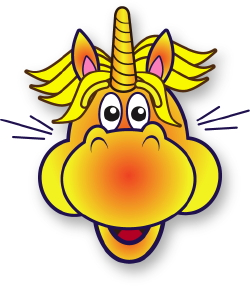 Excited Unicorn clip art