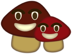 Friendly Mushrooms clip art