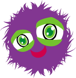 Fuzzy Monster clip art