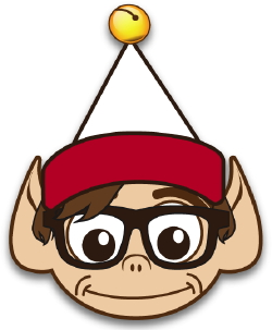 Geek Elf With Glasses clip art