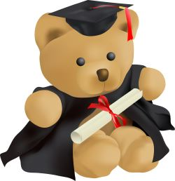Teddy Bear Graduation clip art