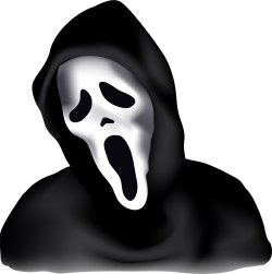 Scream Halloween Mask clip art