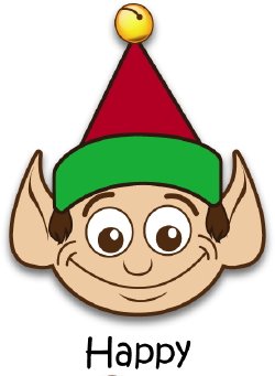 Happy Elf clip art