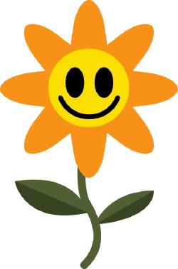 Happy Flower clip art