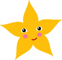 Happy Star clip art