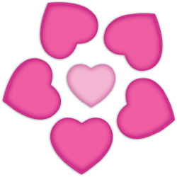Heart Flower clip art