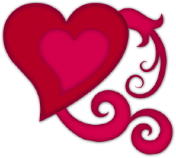 Heart On A Vine clip art