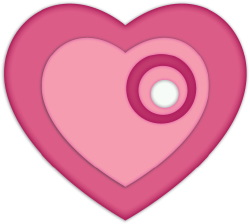 Heart With Circles clip art