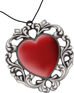 Heart-Shaped Pendant clip art