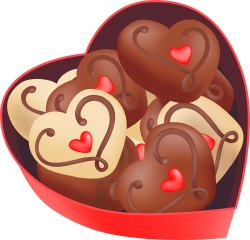 Heart-Shaped Candy clip art