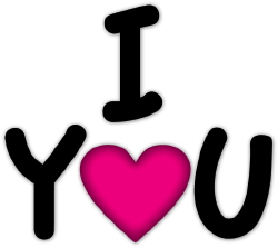 I Love You With Heart clip art