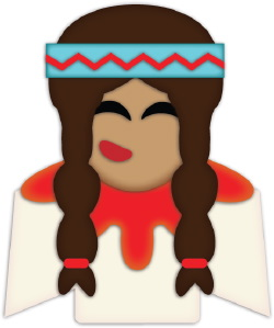Indian Girl Braids clip art