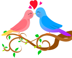 Lovebirds clip art