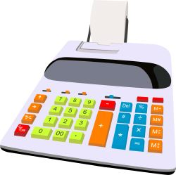 Desktop Calculator clip art