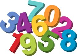 Jumbled Numbers clip art