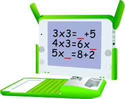 Green Laptop Computer clip art