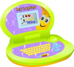 Children's Laptop Computer clip art